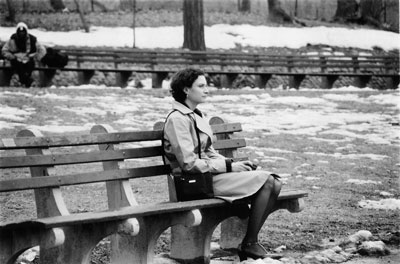 Katie (Nurit Monacelli) sits alone in central park.